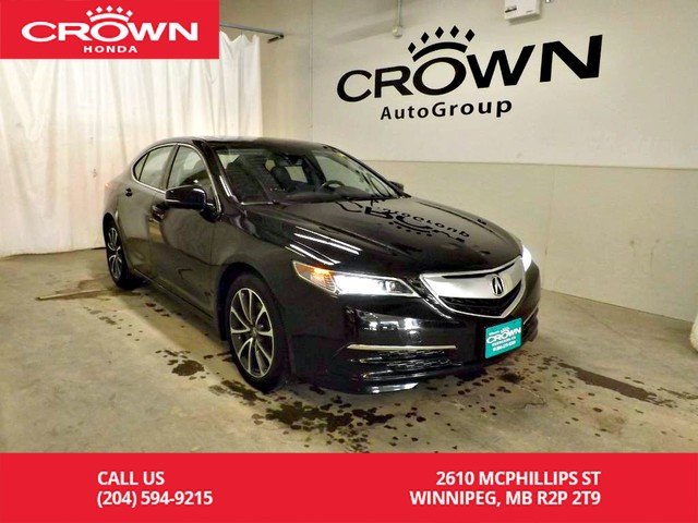 Pre-Owned 2015 Acura TLX V6 Tech/ one owner/ low kms/espresso interior/ heated steering wheel/navigation sy