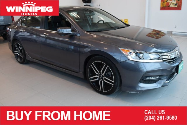 Pre-Owned 2016 Honda Accord Sedan Sport / Crown original / Sunroof / Lane watch camera / Heated se