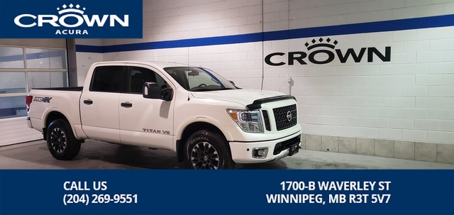 Pre-Owned 2018 Nissan Titan PRO-4X Crew Cab ** 4X4 ** Rocker Liner ** Amazing Savings off New**