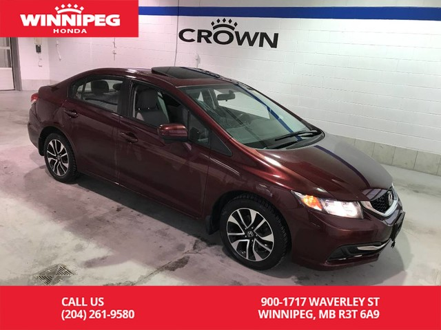 Pre-Owned 2015 Honda Civic Sedan EX/Sunroof/Bluetooth/Heated seats/Rear view camera