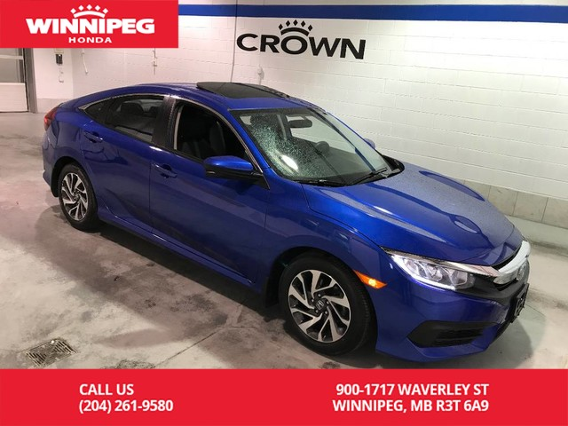 Certified Pre-Owned 2016 Honda Civic Sedan Certified/Bluetooth/heated seats/sunroof/lane watch camera