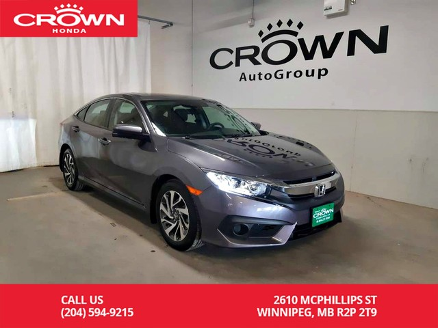 Pre-Owned 2017 Honda Civic Sedan EX/no damage records/one owner lease return/push start button/econ mode assist/back up cam