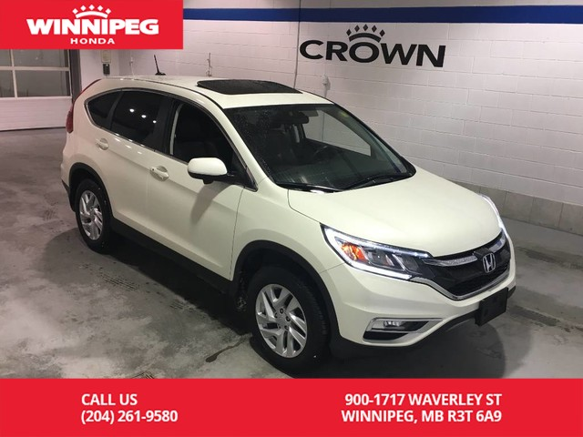 Pre-Owned 2016 Honda CR-V AWD/EX-L/Sunroof/Heated seats/Bluetooth/Leather
