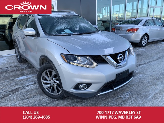 Pre-Owned 2015 Nissan Rogue SL AWD *Leather/Navigation/Accident Free*