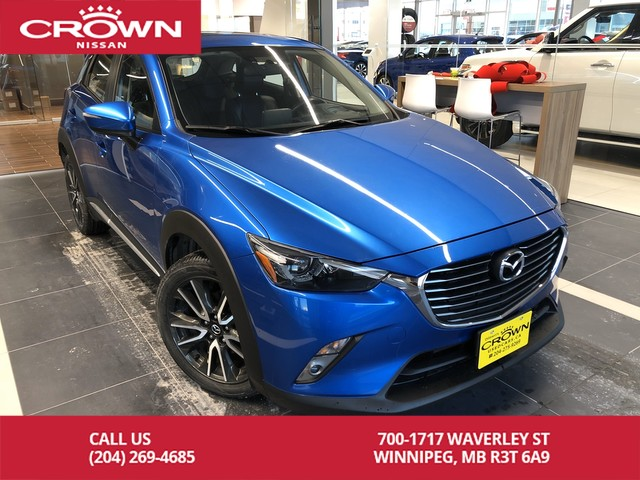 Pre-Owned 2016 Mazda CX-3 GT AWD *Leather/Heads up Display/Moonroof*