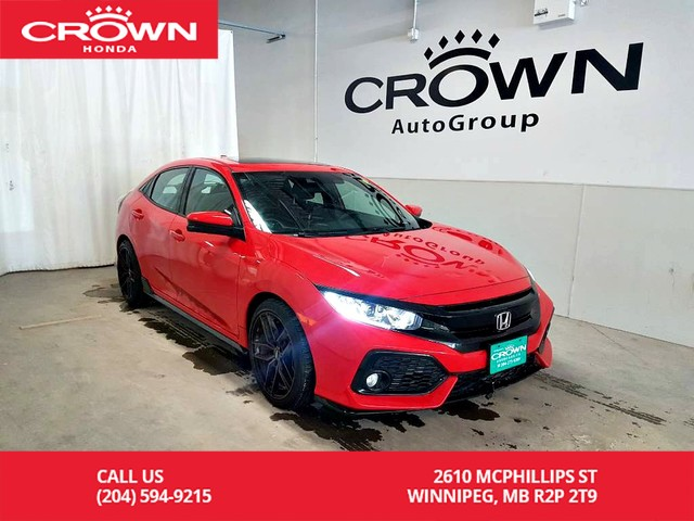 Pre Owned 2017 Honda Civic Hatchback Sport One Owner Low Kms Econ