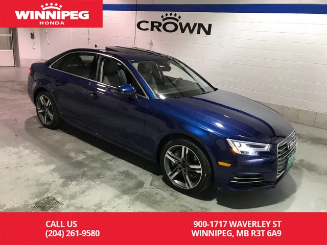 Pre-Owned 2017 Audi A4 Technik quattro/HUD/Navi/Heated seats/Heated steering wheel/Multi function Dashboard