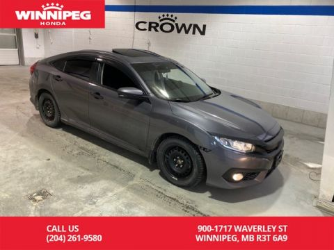 Pre-Owned 2016 Honda Civic Sedan EX-T / Crown Original / Sunroof / Heated seats / Rear view camera