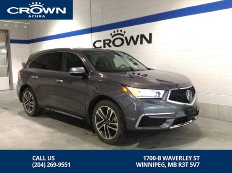 Pre-Owned 2017 Acura MDX Nav SH-AWD ** Low Kms ** Acura Watch **